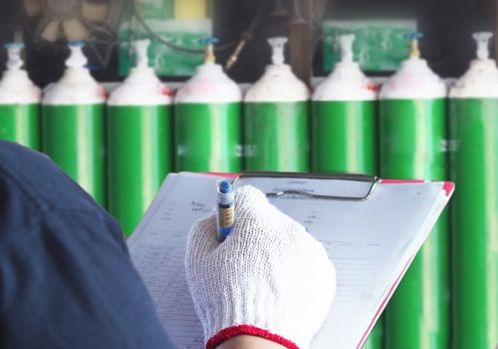 Medical oxygen in tanks