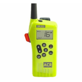 Radio, VHF, GMDSS, ACR - SR203 #2828, Incl. Charger