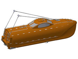 VIKING Norsafe GES-35 free-fall lifeboat - maximum 48 persons