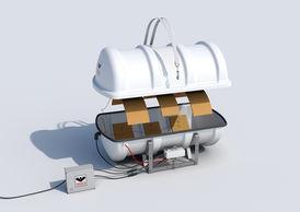 VIKING Polar Liferaft davit launchable 16 pers. 16DKF+