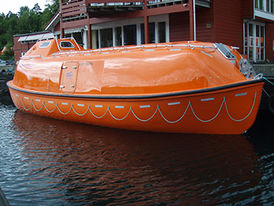 VIKING Norsafe Maggie-10.7 totally enclosed lifeboat - maximum 90 persons