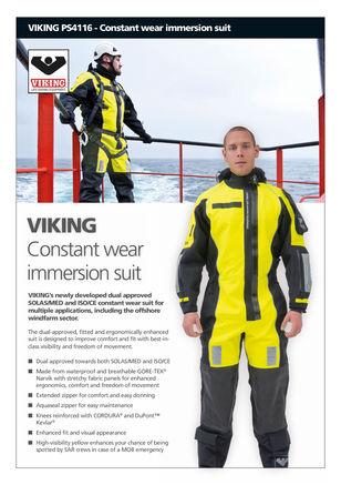constant wear immersion suit