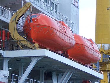 LH lifeboat davit VIKING Norsafe