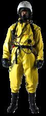 CHEMICAL SUIT, ANSELL, TRELLCHEM SUPER T-ET, W. BOOT