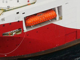 VIKING Norsafe Maxima-120 totally enclosed lifeboat - maximum 150 persons