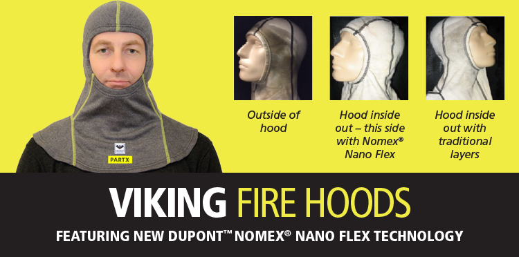 VIKING Fire fighter hood PartX  Particle protection nano technology