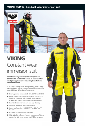 constant wear immersion suit
