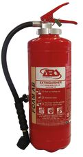 Fire Extinguisher, 6 Liter, AFFF Foam, Cartridge Operated, ABS